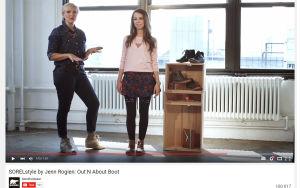 Girls-sarjan puvustaja stailaa Sorel-naisia Youtubessa