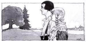 F.G. Ålanderin kuvitusta kirjassa Tarutarha (1924).