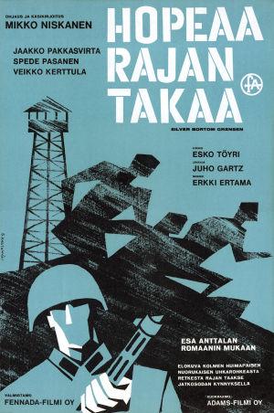 Hopeaa rajan takaa -elokuvan juliste (1963).