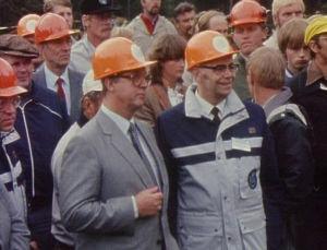 Kalevi Sorsa metsurien MM-kisoissa 1983 Mikkelissä.