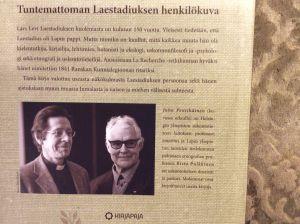 Lars Levi Laestadius - Yksi mies, seitsemän elämää -teoksen takakansi, suunnittelu Iiris Kallunki.