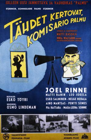 Tähdet kertovat. komisario Palmu -elokuvan juliste (1962).