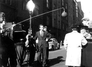 Kaasua, komisario Palmu -elokuvan kuvauksissa (1961).