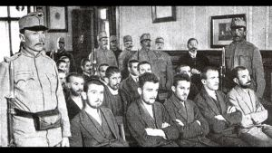 Rättegången efter skotten i Sarajevo.