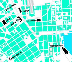 Sinebrychoffin taidemuseo ja Guggenheim Helsinki jäisivät taidemuseokeskittymän ulkopuolelle