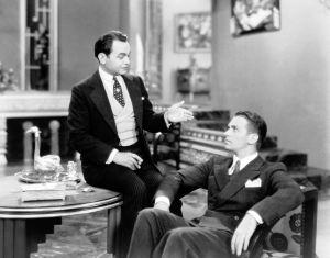 Edward G. Robinson ja Douglas Fairbanks Jr. elokuvassa Pikku Caesar