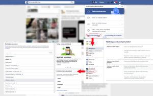 Facebookin mainosasetukset ovat yksityisyysasetusten kanssa samassa valikossa.