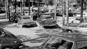 Kaos på campingområdet i Rosala, 1976