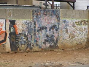Graffititaidetta Sowetossa, Etelä-Afrikassa 2009