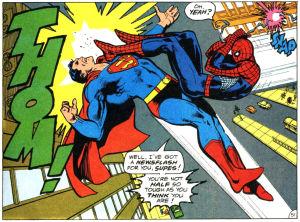 superman vs spideman