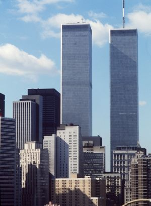 Yhdysvallat, New York. World Trade Center (WTC), Manhattan. 1983