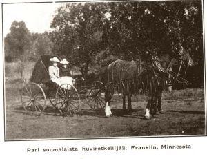 """""""Pari suomalaista huviretkeilijää, Franklin, Minnesota"""""""