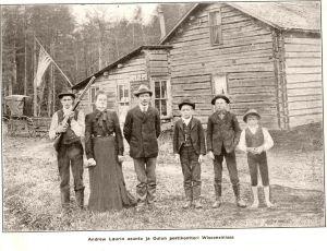 Andrew Laurin asunto ja Oulun postikonttori Wisconsinissa n. 1904