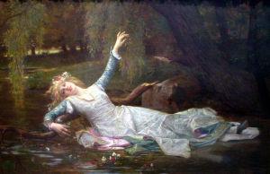 Alexandre Cabanel'in öljymaalaus Shakespearen näytelmän hahmosta Ofelia
