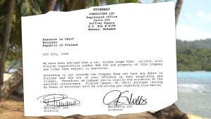 Panama-papereista löytynyt Porsche-asiakirja.