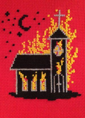 Oscar hagen: Brinnande kyrka