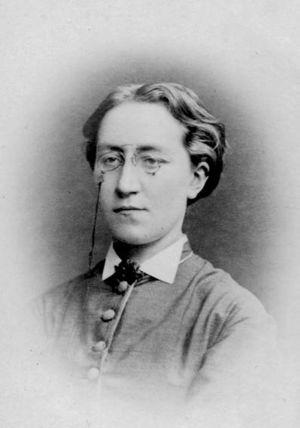 Rosina Heikel år 1875.