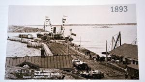 Bild från Hangö hamn. Året är 1893.