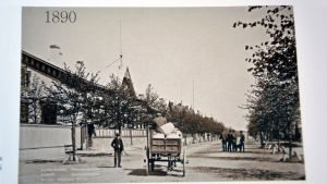 En gammal bild från Bulevarden i Hangö.