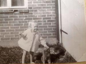 Ann-Sophie Sandström och katt