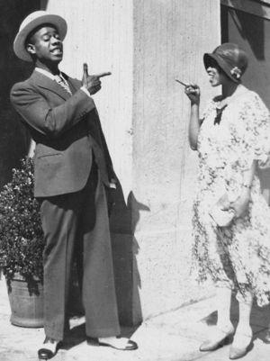 Louis Armstrong och Lil Hardin i Los Angeles 1930
