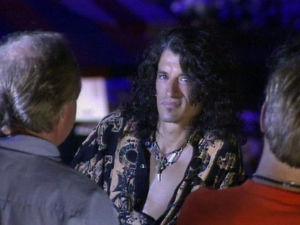 Kitaristi Joe Perry Woodstockissa vuonna1994.