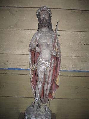 Smärtomannen, Luvia kyrka (Satakunta), ca 1500