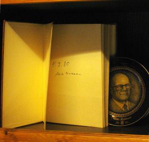 Kekkosen allekirjoitus Hillosensalmen vieraskirjassa