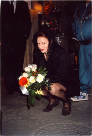 Mari Rantasila Milkshaken kuvauksissa
