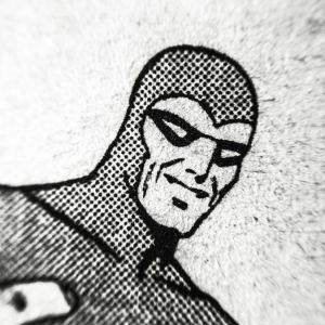 mustanaamio, kuva sarjakuvalehdestä