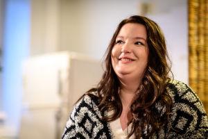 Luciakandidat Rebecca Svenblad.
