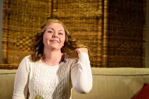 Luciakandidat Cajsa Sundqvist intervjuas.