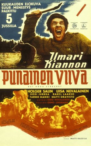 Punainen viiva - elokuvan juliste (1959).