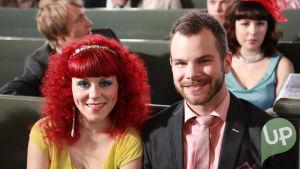 Vilman ja Janin häät. Cicca Kallas ja Aapo Rönkkö kirkossa.