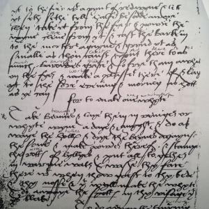 Keskiajan Englannissa kirjoitettu lääketieteellinen teksti.