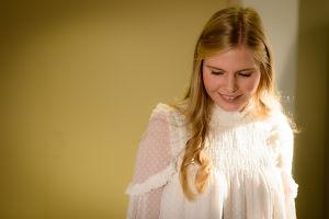 Luciakandidat Ingrid Holm.