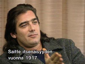 Tv-tähti Ken Wahl lehdistötilaisuudessa Suomessa vuonna 1991.