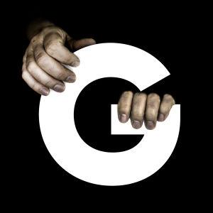 Kuvituskuva: Kirjain G ja kädet.