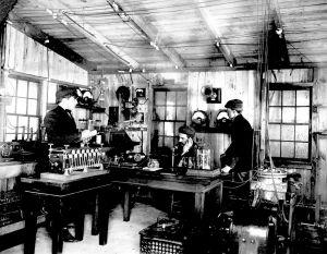 Reginald Fessendens radiolaboratorium i Brant Rock, Massachusetts. Tidigt 1900-tal.