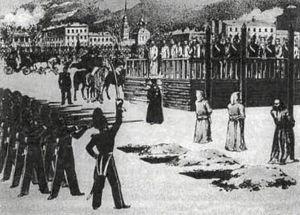 Skenavrättning i Ryssland 1849