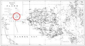 Vanha ruotsinkielinen Ahvenanmaan kartta
