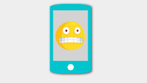 En grimaserande emoji.