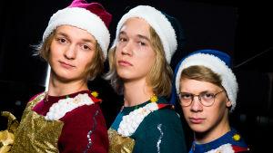 Kuvassa Lenni Morris (Joel Bonsdorff), Osku Haavisto (Atte Reunanen) ja Roni Siren (Ville Rossi).