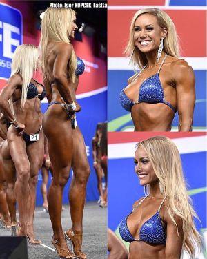 Kollage med bilder på Sara Back från en tävling.