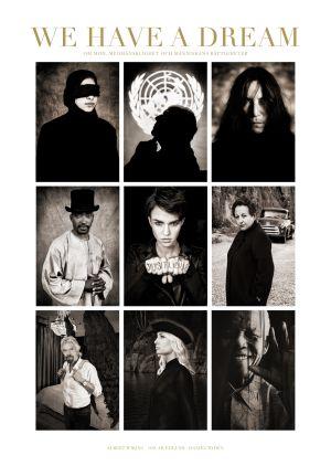 Bokpärmen We Have a Dream med Albert Wikings porträttfotografier.