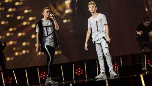 Marcus & Martinus Uuden Musiikin Kilpailussa 2017.