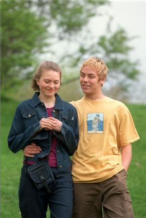 Mirja (Inka Kiviharju) ja Hessu (Petteri Jamalainen) vuonna 1999.