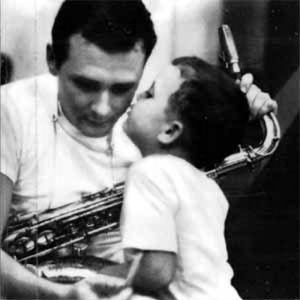 Stan Getz och hans lilla son.