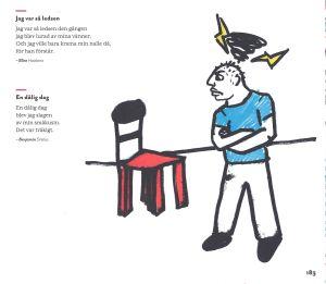 """Dikter och illustration ur antologin """"Avtryck - dikter om allt och ingenting""""."""