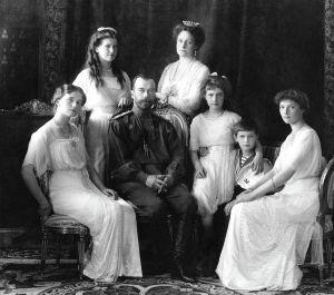 En bild på den sista tsarfamiljen